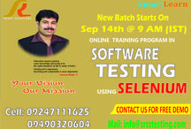 Software testing / Online training for testing,selenium,QTP