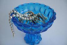 Beautiful Cobalt Blue Glass / Cobalt blue glass home décor items