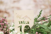 Table markers / Inspirations for original table markers