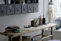 Dickens workspace Style / Atelier of special place to work