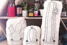 dibujos de cactus almohadones