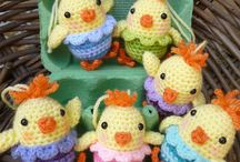 Crochet chirpy chickens