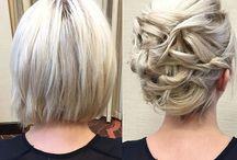 chignon cheveux courts