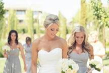 Silver grey bridesmaids