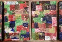 i miei dipinti / Tecnica mista di carte su polistirene e legno