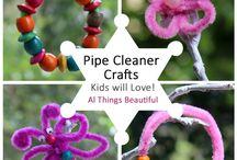 Pipe cleaner crafts / Pipe cleaner crafts, kids crafts, craft blogger