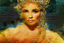 Elizabeth Taylor Pop Art Canvas