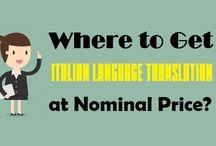Where to Get Italian Language Translation at Nominal Price?