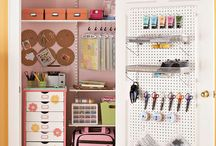 craft room in a closet / by Amanda Smith