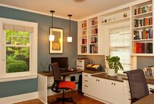 Home Office Lighting / Beautiful Home Offices Featuring Hubbardton Forge Lighting