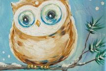 Paintings-Owls