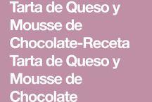 receta tarta d queso y chocolate.