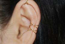 Lovely Ear  piercing and Ear cuff