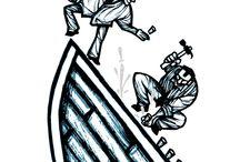 PORTFÓLIO | Estilo Xilo / Trabalhos de ilustração em estilo Xilo.