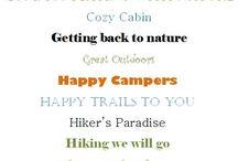 Camping scrapbooks