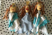 Knutsel kinderen / Aardappel handpop