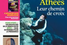Kiosque octobre 2014 / Panorama des Unes des revues reçues au CDI au mois d'octobre.