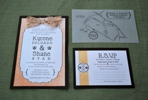Wedding Stationery / All wedding print materials: save the dates, invitation suites, table numbers, etc.