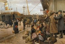 Edvard Petersen Danish Painter 1841 - 1911 / Danish Painter 1841-1911