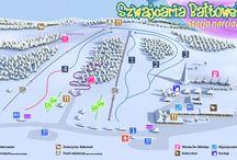 Stacja narciarska/Skii station - Szwajcaria Bałtowska / Szwajcaria Bałtowska - stok, nauka jazdy, Wioska Świętego Mikołaja