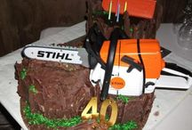 40th Birthday Log cake