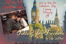 Falling for Heroes Series by Eryn LaPlant / Falling for Shock, Falling for Freedom