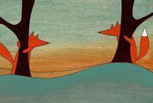 Motif animaux dans la forêt