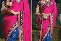Fashion For Multi Colour Designer Saree / Fashion for Lovable An eye catching Multi colour designer Saree available only on http://www.fashionfiza.com/sarees?catalog=1041 at #lowest price