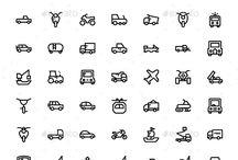 transport pictogrammes