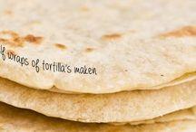 wraps en tortilla