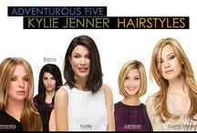 Adventurous Five Kylie Jenner Hairstyles… Find Good Wig Styles at BestWigOutlet.com / Kylie Jenner's hair styles change often and always looks amazing and inspirational.  The amazing looks lead people to experiment more variety of hairstyles and colors.  Take a look these five adventurous wig styles resemble Kylie Jenner's hair styles and colors.