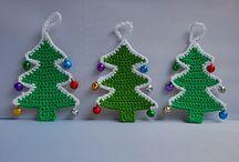 Árboles de navidad de crochet