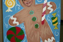 Childs gingerbread photo display board