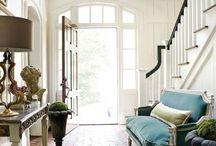 Beautiful Entryways / Home entryways, front doors, sidelight windows