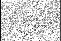Coloring for adults / by Diana van H