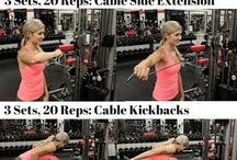 Workout for arms, back & chest