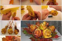 foglie secche rose