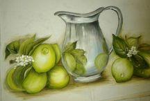 pintura frutas e legumes