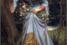 John William Waterhouse vintage paintings