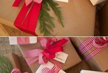 Gift wrapping ideas for Christmas. / by Miriam Stocking