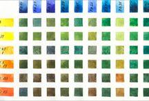 акварель цветовая палитра