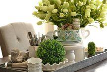 Spring Kitchen Table Centerpieces
