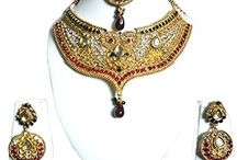 Bollywood Designer Wedding Party Choker Jewelry Necklace Set