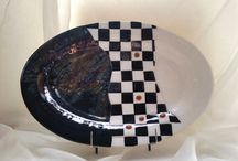 Fused glass Dishes, Plates, Serving Trays and Bowls