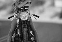 MOTORCYCLE AND BABES