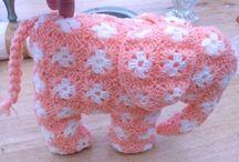 crochet african flowers animal