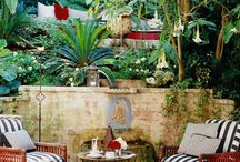 Style File: Interior Decorating / Most of us can't hire famous Interior Decorators to achieve that designer-perfect look. But there are classic pieces you can add to your home that will instantly transform it into an exotic haven - a lantern, a moroccan side table, an oriental rug, luscious plants, a scatter of suzani cushions.... these are all timeless and reliable pieces in the world of interior design. Here are some examples to draw ideas from.