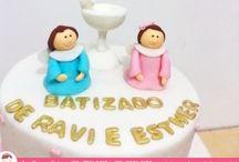 Um Bolo para um momento abençoado!  / Bolo para Batizado por Ana Barros Bolos! Deus abençoe esses anjinhos!