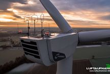 Luftbild Windkraftanlage