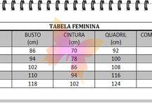 Tabelas de Medidas Ponto Com Artesanatos